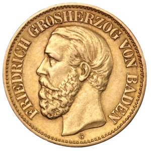 10 Mark Grand Duke Friedrich I Baden | Gold | 1872-1901(Front)
