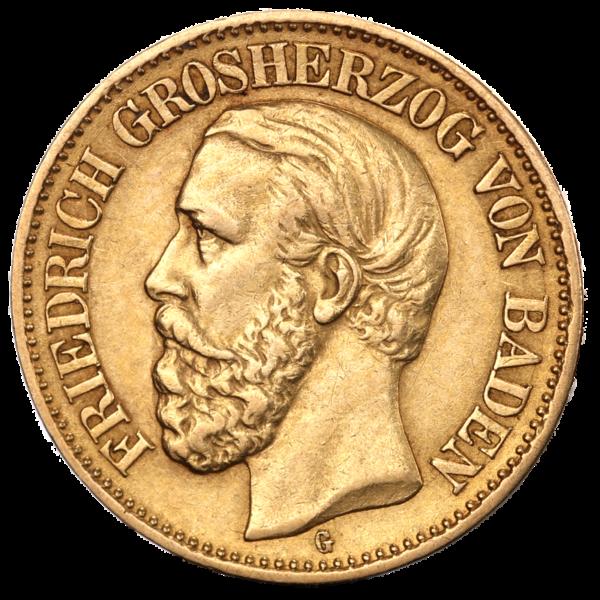 10 Mark Grand Duke Friedrich I Baden | Gold | 1872-1901(Front)