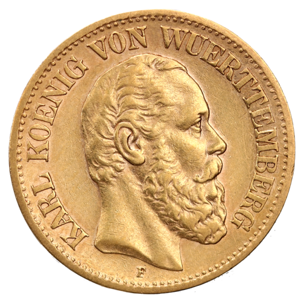 10 Mark King Karl Wurttemberg | Gold | 1864-1891(Front)