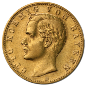 10 Mark, Otto, King of Bavaria, Gold(Front)