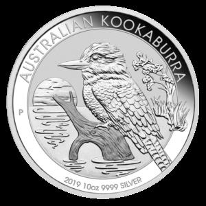 10 oz Kookaburra Silver Coin (2019)(Front)