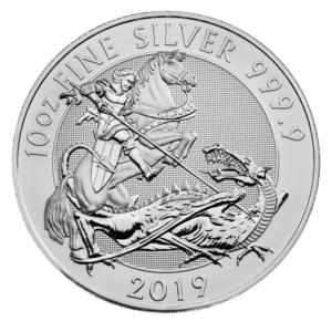 10 oz The Valiant Silver Coin (2019)(Front)