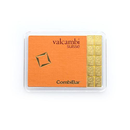 10g CombiBar | 10gr Gold Bar | Valcambi(Front)