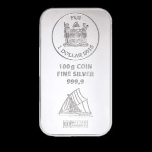 100g Fiji Coin Bar | Silver | Argor-Heraeus(Front)