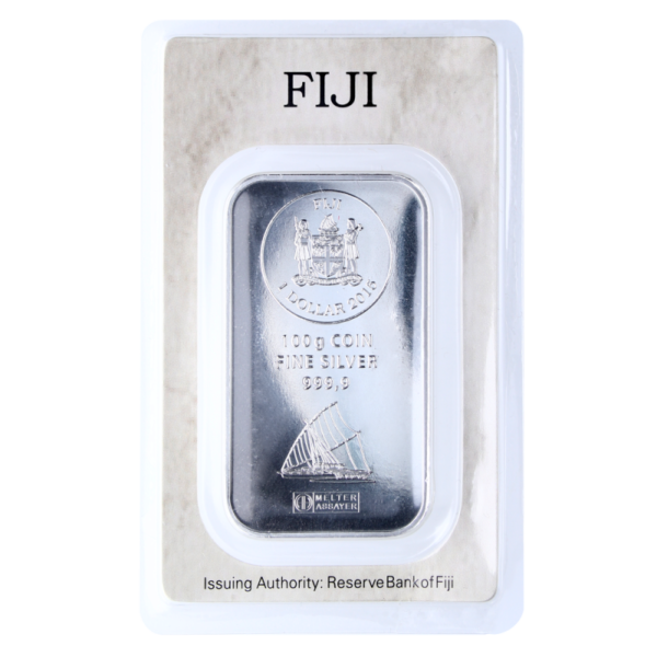 100g Fiji Coin Bar | Silver | Argor-Heraeus(Back)