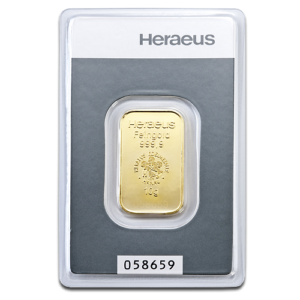 10g Gold Bullion | Heraeus Gold Bar(Front)