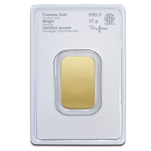 10g Gold Bullion | Heraeus Gold Bar(Back)
