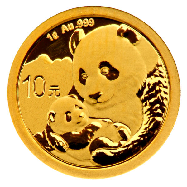 1g China Panda Gold Coin (2019)(Front)