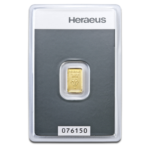 1g Gold Bullion | Heraeus Gold Bar(Front)