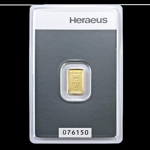 1g Gold Bullion | Heraeus Gold Bar(Front)