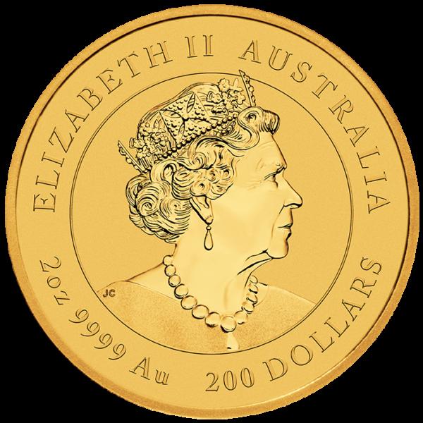 2 oz Lunar III Mouse Gold Coin (2020)(Back)