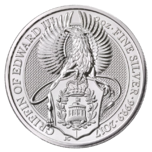 2 oz Queen's Beasts Griffin | Silver | 2017(Front)