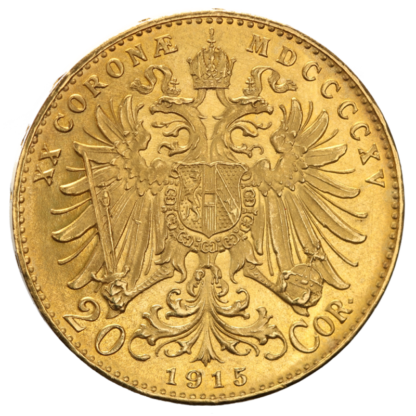 20 Kronen, Austria, 6.10g Gold(Back)