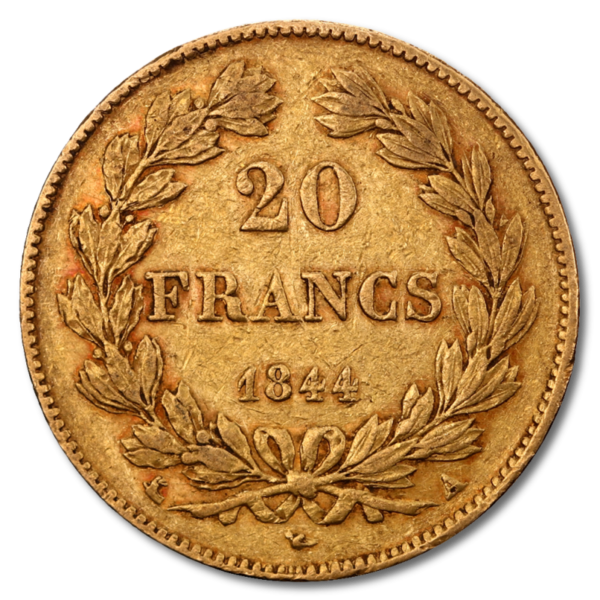 20 Franc Louis Philippe I | Gold | 1830-1848(Back)