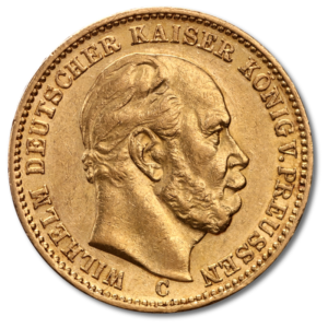20 Mark Kaiser Wilhelm I., Prussia, Gold(Front)