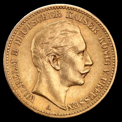 20 Mark Kaiser Wilhelm II., Prussia, Gold(Front)