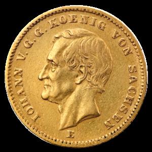 20 Mark King Johann Saxony | Gold | 1872-1873(Front)