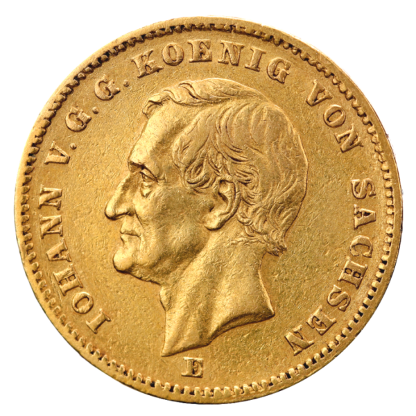 20 Mark King Johann Saxony | Gold | 1872-1873(Front)