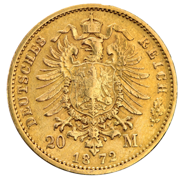 20 Mark King Johann Saxony | Gold | 1872-1873(Back)