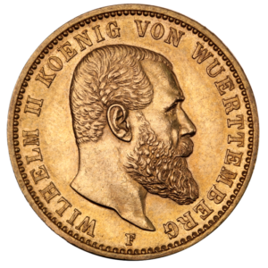 20 Mark | King Wilhelm II Wurttemberg | Gold | 1891-1918(Front)