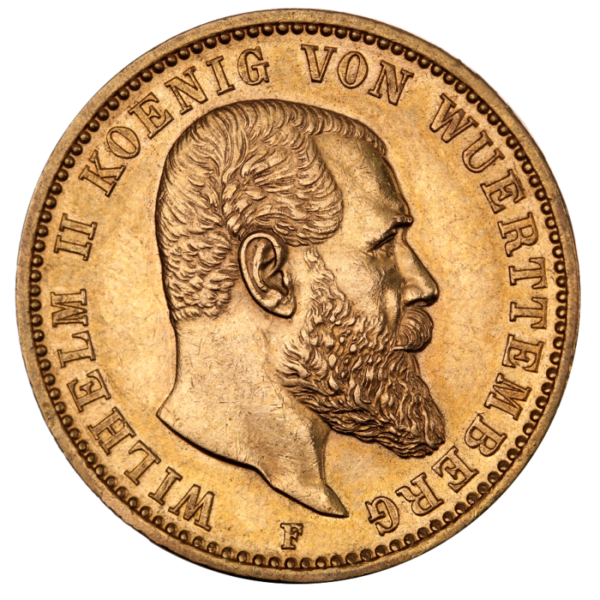 20 Mark | King Wilhelm II Wurttemberg | Gold | 1891-1918(Front)