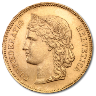 20 Swiss Francs, Helvetica(Front)