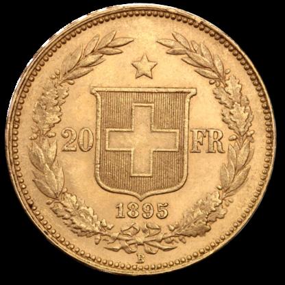 20 Swiss Francs, Helvetica(Back)