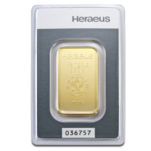 20g Gold Bullion | Heraeus Gold Bar(Front)