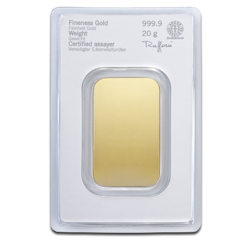 20g Gold Bullion | Heraeus Gold Bar(Back)