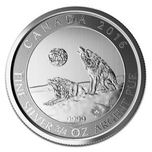 Howling Wolves 3/4oz Silver 2016(Front)
