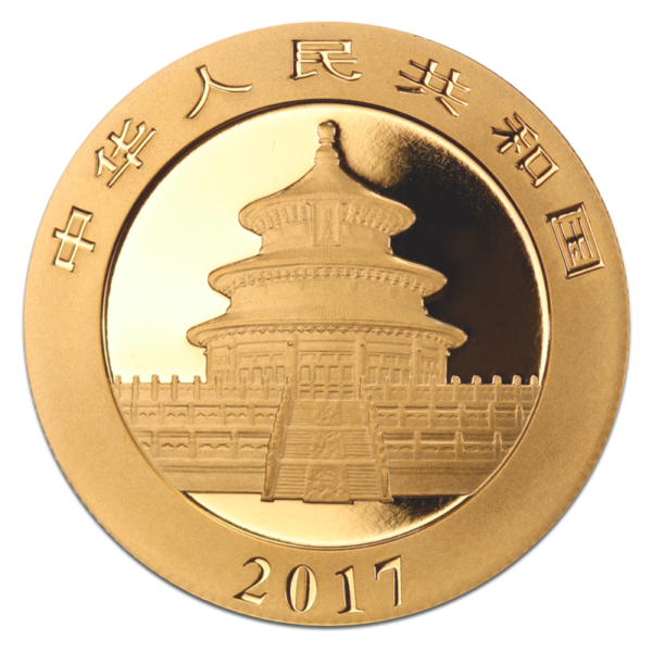 30g China Panda | Gold | 2017(Back)