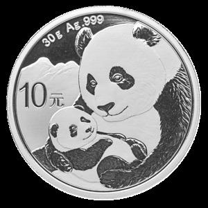 30g China Panda Silver Coin (2019)(Front)