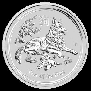 5 oz Lunar II Dog | Silver | 2018(Front)