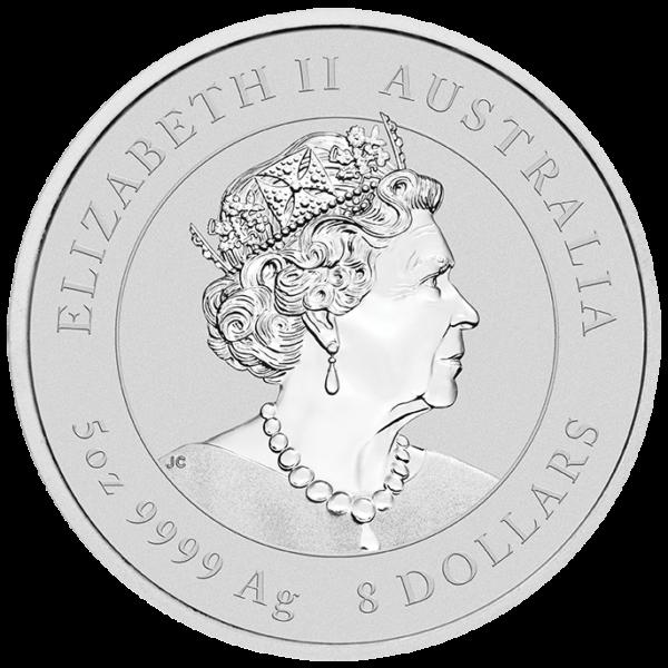 5 oz Lunar III Mouse Silver Coin (2020)(Back)