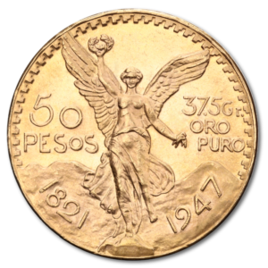 50 Mexican Peso, 37,50g, Gold(Front)