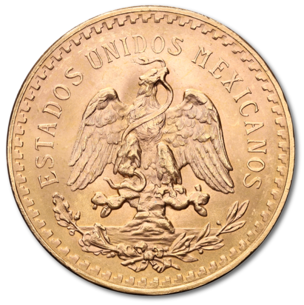50 Mexican Peso, 37,50g, Gold(Back)