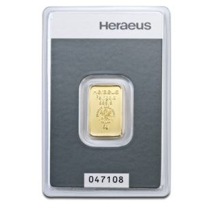 5g Gold Bullion | Heraeus Gold Bar(Front)