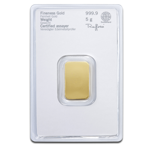 5g Gold Bullion | Heraeus Gold Bar(Back)
