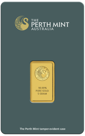 5g Gold Bullion | Perth Mint Gold Bar with Certificate(Front)