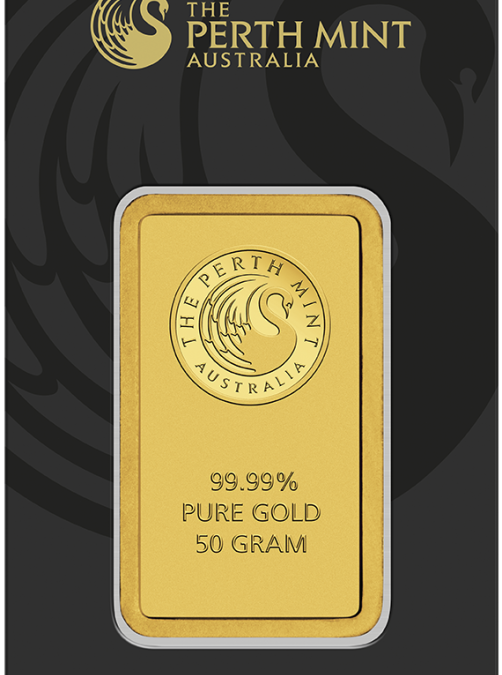 50 gram Gold Bar – The Perth Mint (In Assay)