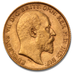 Half Sovereign Edward VII., 1/2 Pound, Gold, mixed years(Front)