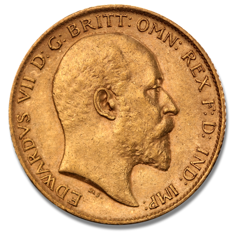 Half Sovereign Edward Vii 1 2 Pound