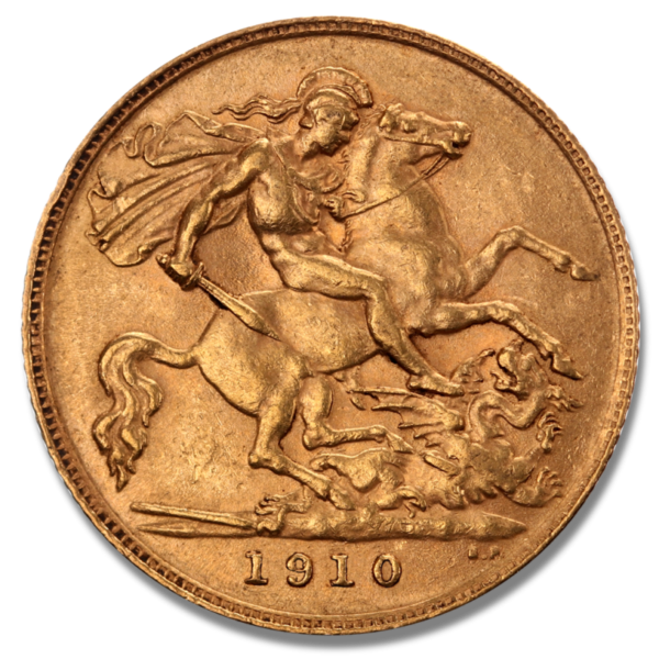 Half Sovereign Edward VII., 1/2 Pound, Gold, mixed years(Back)