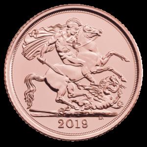 Half Sovereign Elizabeth II Gold Coin (2019)(Front)