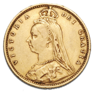 Queen Victoria Jubilee Half Sovereign Gold Coin (1887-1893)(Front)