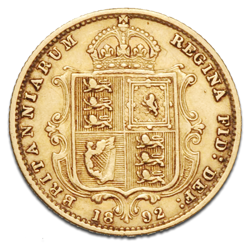 Queen Victoria Jubilee Half Sovereign Gold Coin (1887-1893)(Back)