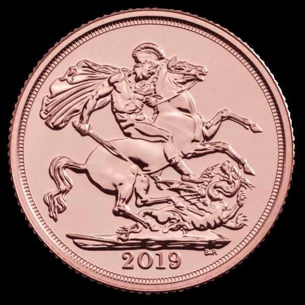Sovereign Elizabeth II Gold Coin (2019)(Front)