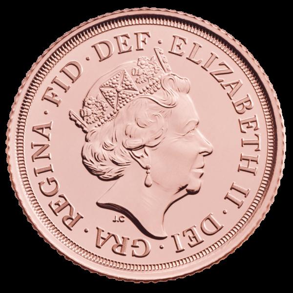 Sovereign Elizabeth II Gold Coin (2019)(Back)