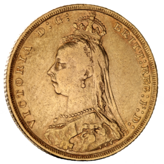 Full Sovereign Victoria, Gold, 1887-1893(Front)