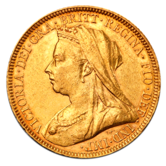 Queen Victoria Old Head Gold Sovereign (1893-1901)(Front)